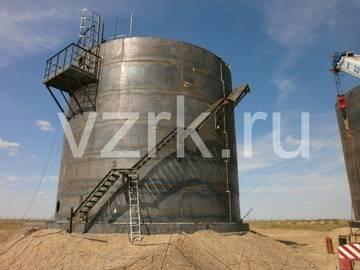 Обслуживающие площадки на крыше резервуара РВС-1000